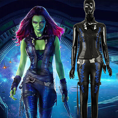 Guardians of the Galaxy Gamora Black Outfit Cosplay Costume Custom Halloween