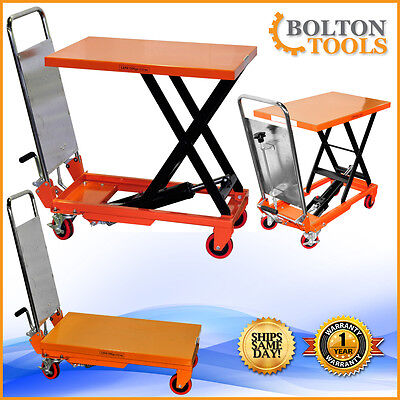 Material Handling 330 Lb Capacity Hydraulic Scissor Lift Table Cart Tf15a