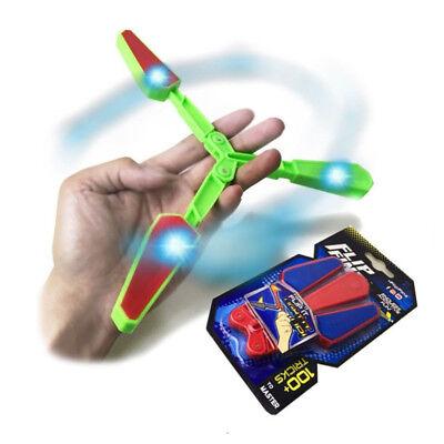 Flip Finz LED Light Fidget Spinner Finger Hand Toys Spin Stress Relief Best