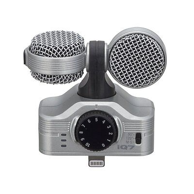 Zoom MS Stereo Microphone iQ7 for iPhone/iPad/iPod stack up to from Japan New