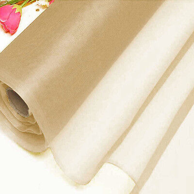 Beige sample half yard pure silk organza bridal dress for Wedding dress fabric samples