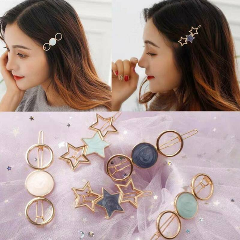 Dedicated New Fashion Cute Acetate Circle Alloy Barrettes Hair Clips Women Hairpins Headwear Hair Holder Headband Hair Styling Tools Styling Tools