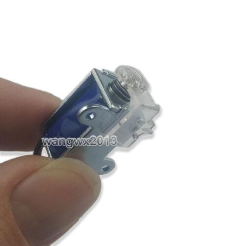 1pcs DC6-12V Miniature Push Pull Type Electromagnet Solenoid Magnet Plug