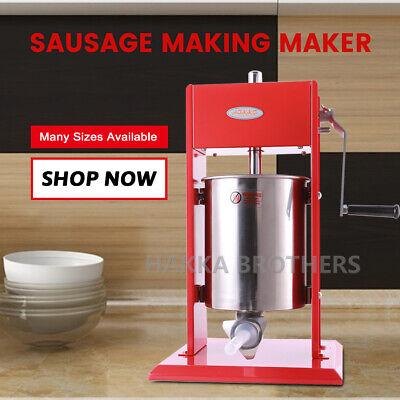 Hakka 22lb 10l Manual Sausage Stuffer Vertical 2 Speed Meat Filler Press Maker