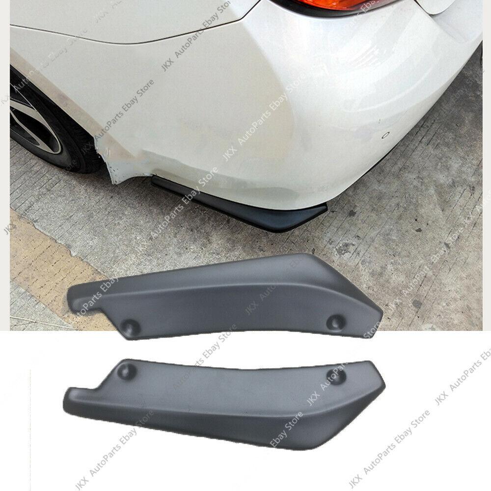 Universal Fit Front Bumper Lip Splitters Winglets Canards  2PC PP