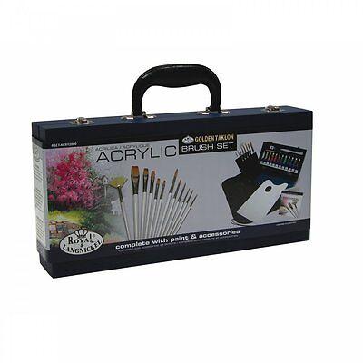 Royal & Langnickel Acrylic Wooden Box With Brush Set