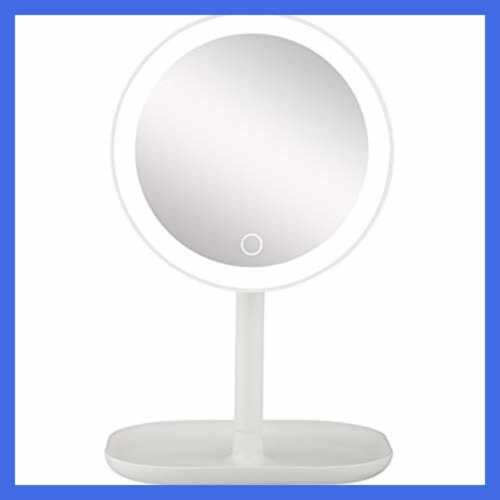 10x led lighted makeup mirror magnifying w