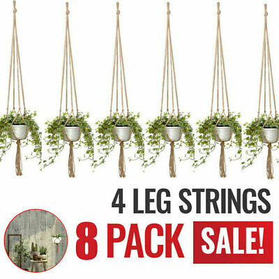 Plant Hangers Set of 8 Indoor Wall Hanging Planter Basket Flower Pot Holder Boho