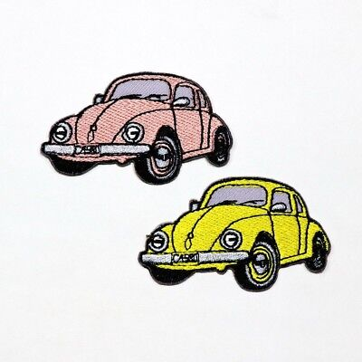 Retro Hippy beetle car Rockabilly Symbol DIY Clothing Jacket Bag Iron on Patch](Diy Hippie Clothes)
