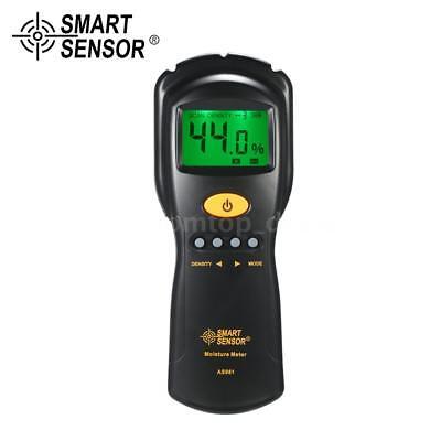 Digital Moisture Meter Detector Tester Wood Firewood Concrete Drywall Damp