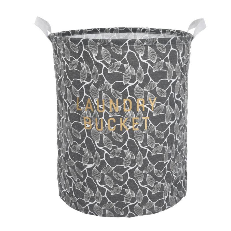 Waterproof Canvas Laundry Hamper Clothes Basket Storage Bask