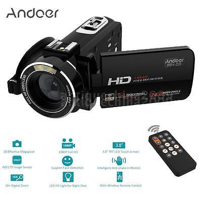 Andoer HDV-Z20 WiFi IPS HD 1080P 24MP Digital Video DV Camer