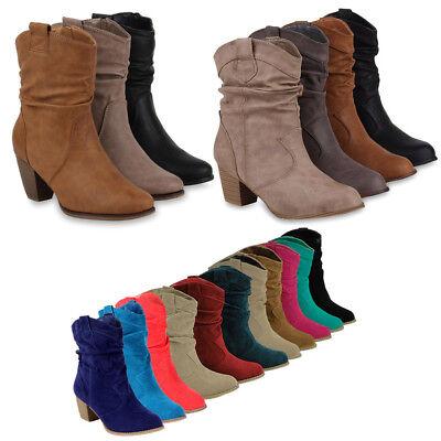 Damen Schuh Stiefel Western (892845 Western Damen Stiefel Stiefelette Schuhe 36-41 New Look)