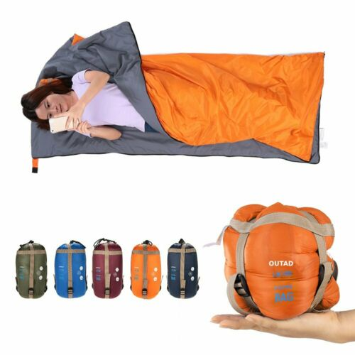 Outdoor Ultra-Light Sleeping Bag Adult Blanket Envelope Camping Hiking Caping BE