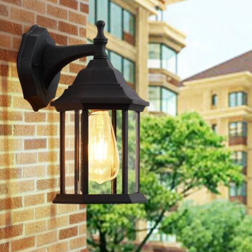 Twin Pack Outdoor Exterior Porch Wall Sconce Light Fixture