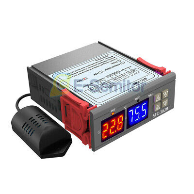 Stc-3028 Dc24v Dual Led Temperaturehumidity Controller Thermostat Sensor Probe