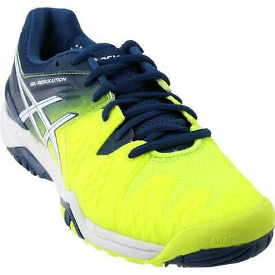 ASICS GEL-Resolution 6 Tennis Shoes Yellow - Mens - Size 12.5 D ()