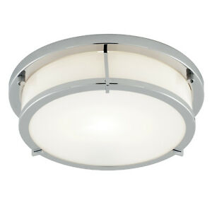 ip44 modern chrome white flush round 2d fluorescent bathroom ceiling