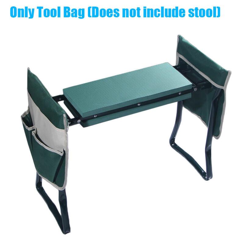 Foldable Garden Kneeler Seat Tool Bag Portable Outdoor Work Cart Storage Pouch