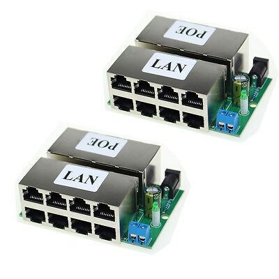 2Pcs 8 Ports Passive POE injector Power Supply Module 48V For AP IP Camera Phone