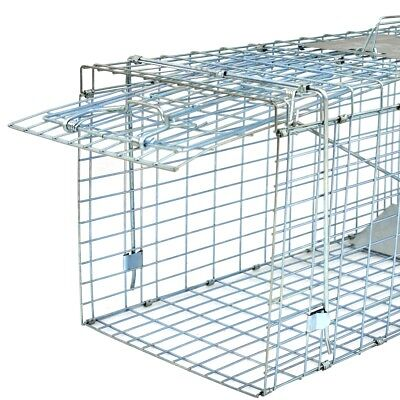 """Live Animal Trap Extra Large Rodent Cage Garden Rabbit Raccoon Cat 32"""" x 12.5"""" for sale  USA"""