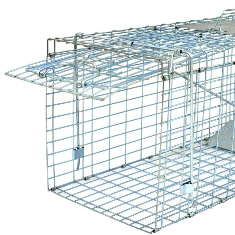 """Live Animal Trap Extra Large Rodent Cage Garden Rabbit Raccoon Cat 32"""" x 12.5"""""""