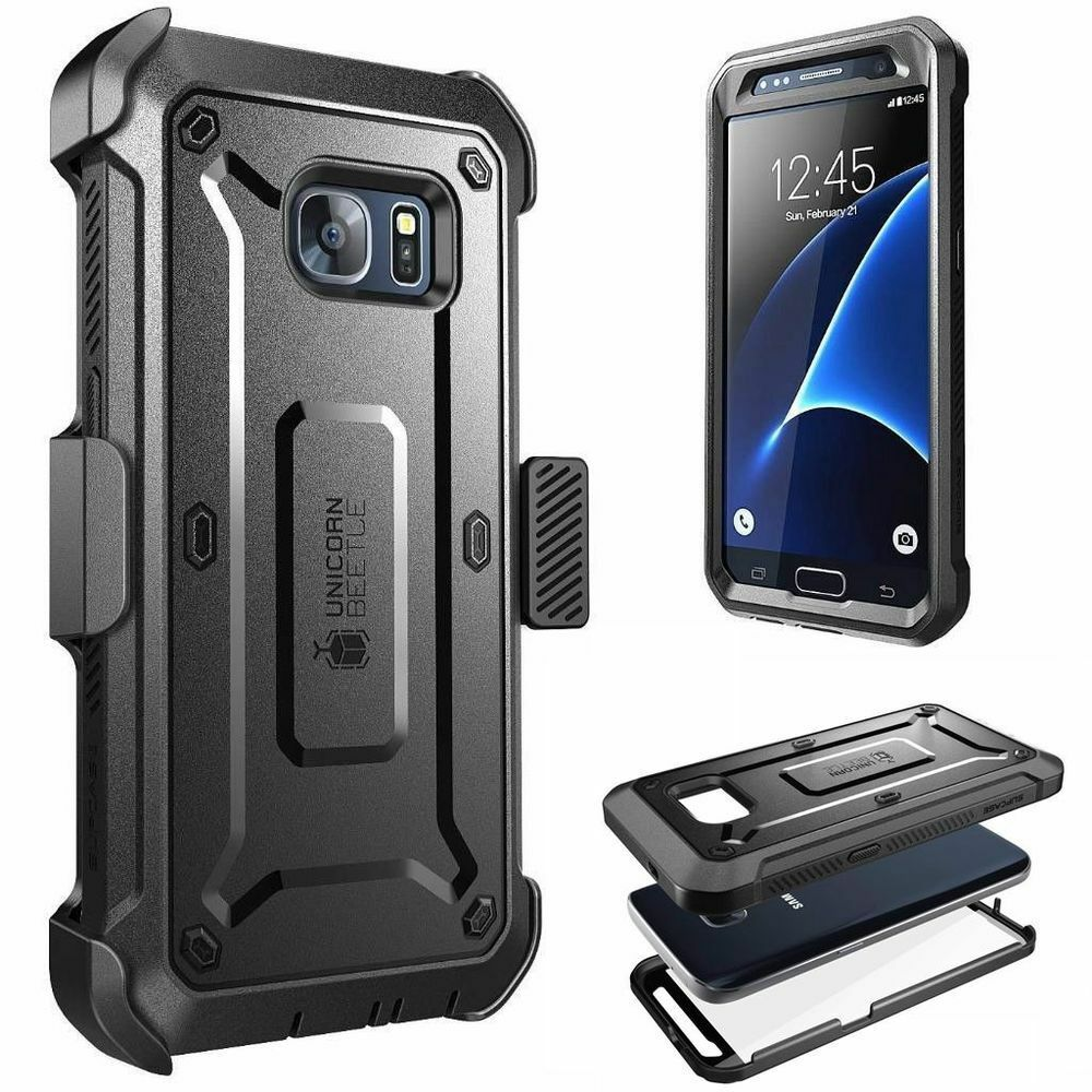 For Samsung Galaxy S7, SUPCASE Fullbody Holster Case Cover w