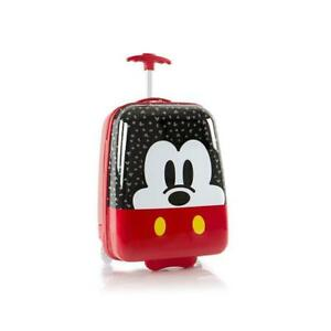 Disney Mickey Mouse Kids Carry On Rolling Luggage, Hard Shell Travel Suitcase for Boys - 18 Inch