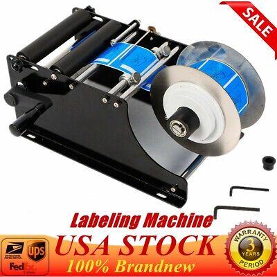 Mt-30 Semi-automatic Round Bottle Labeling Machine Manual Label Maker Printer