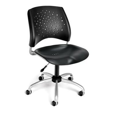 Ofm Star Series Model 326-p Plastic Armless Swivel Task Chair Black