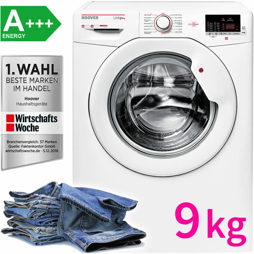 Hoover A+++ 9 kg XL Waschmaschine Frontlader 1.400 UpM Display Waschautomat NFC