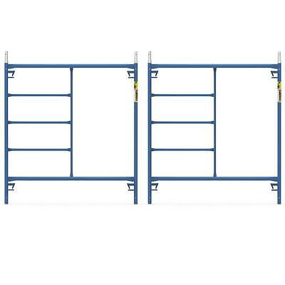 Blue Powder Coated Steel 2-pack 5 Ft. X 5 Ft. Mason Scaffolding Frame Kit