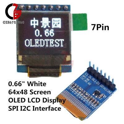 0.66 Oled Display Module 7pin 64x48 Screen Spi I2c 3.35v For Arduino Avr Stm32