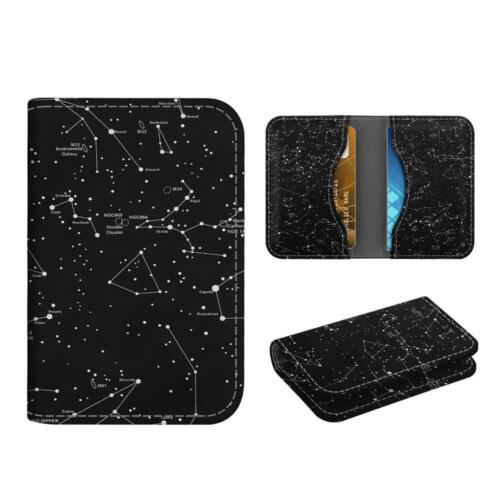 Business Card Holder Case Credit Cards ID Card Wallet Organizer - Constellation