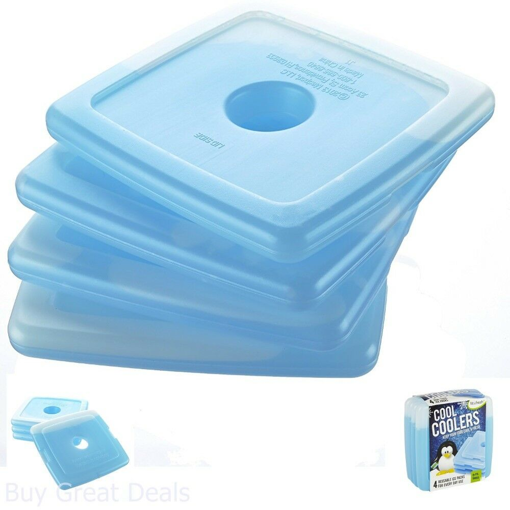 4 Pack Ice Cooler Reusable Cooling