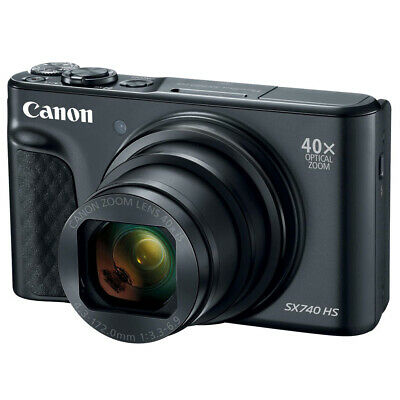 Canon PowerShot SX740 HS Digital Compact Camera 40x Optical Zoom 20.3 MP Black