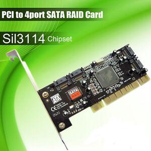 PCI to 4 ports SATA Serial ATA RAID Sil3114 3114 Converter Controller I/O Card