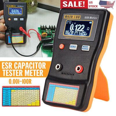 Mesr-100 Esr Capacitance Ohm Meter Cap Resistance Capacitor Circuit Tester Usa