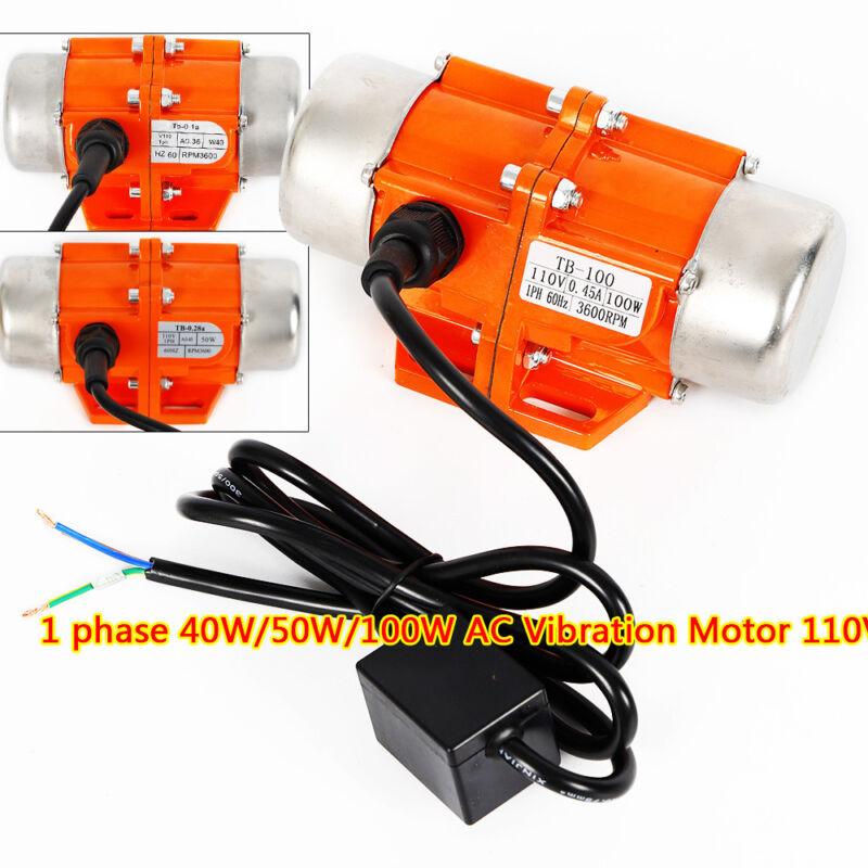 AC Vibration Motor 40-100W Concrete Vibrating Asynchronous Vibrator 110V 1 Phase