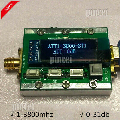 Rf Program Controlled Attenuator 0-31db Adjustable Retreat 1-3800mhz Attenuator
