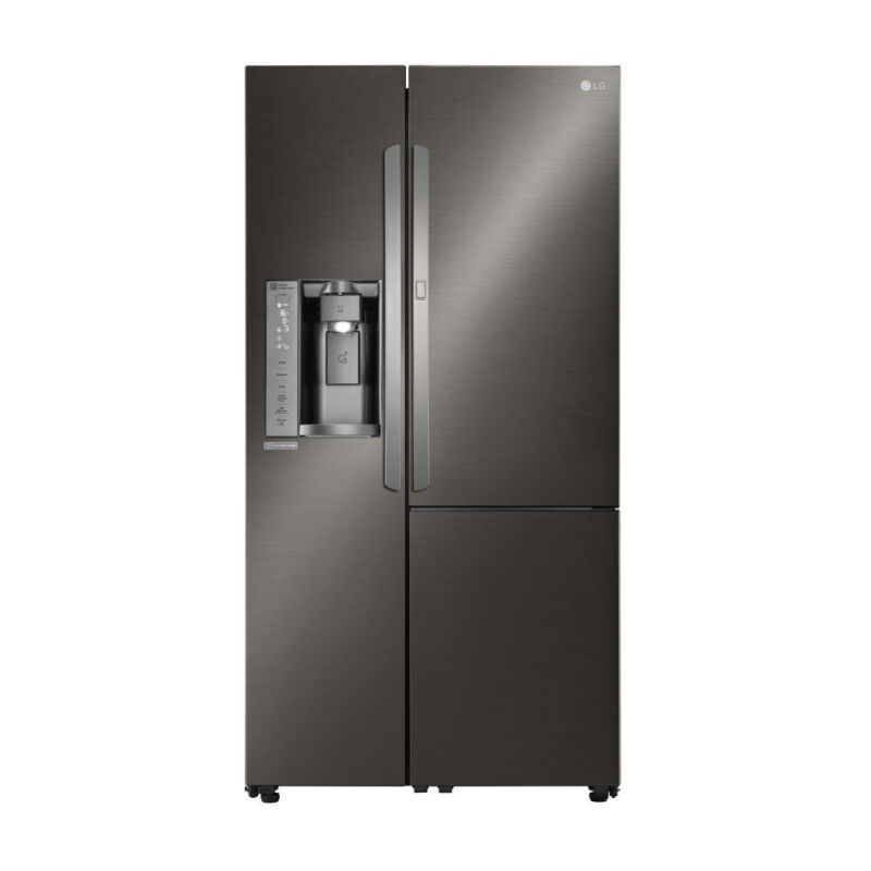 LG Door-in-Door 26.0 Cu. Ft. Side-by-Side Refrigerator with Thru-the-Door Ice and Water Black Stainless Steel LSXS26366D