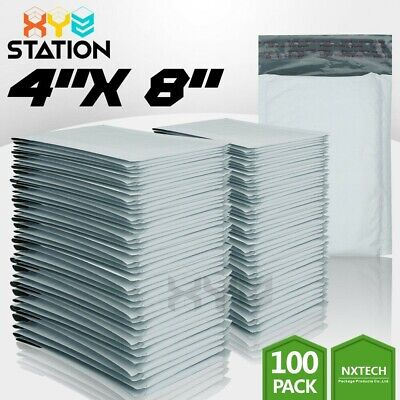 100 Pcs 000 4x8 4x7 Poly Bubble Mailers Padded Envelope Shipping Supply Bags