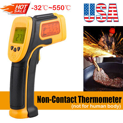 Digital Thermometer Infrared Temperature Gun Non-contact Ir Laser Point Us Stock
