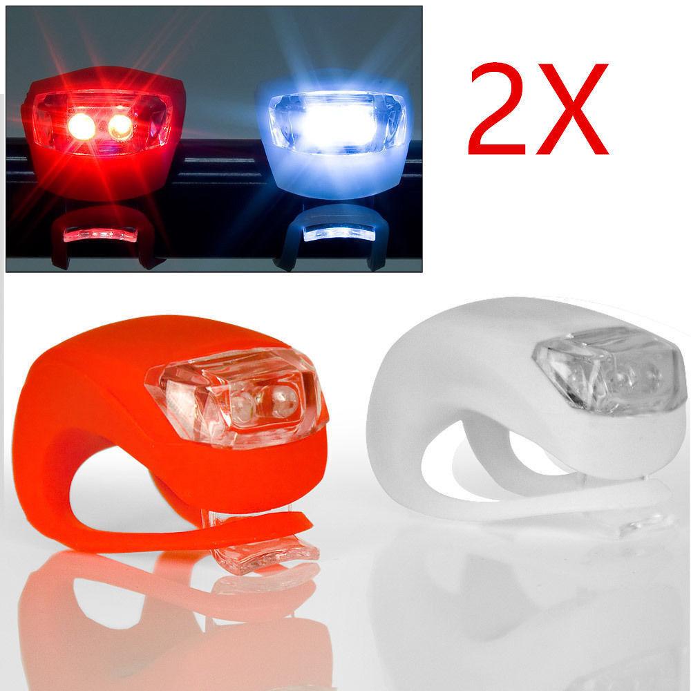 2x LED Fahrrad Licht Fahrradlampe Frontlicht Rücklicht… |