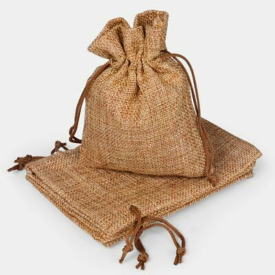 Favors For Weddings (50PCS Linen Burlap Bags with Jute Drawstring for Gift Bags Wedding Party)