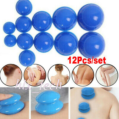 12PCS/set Medical Chinese Vacuum Cupping Body Massage Therapy Healthy Suction