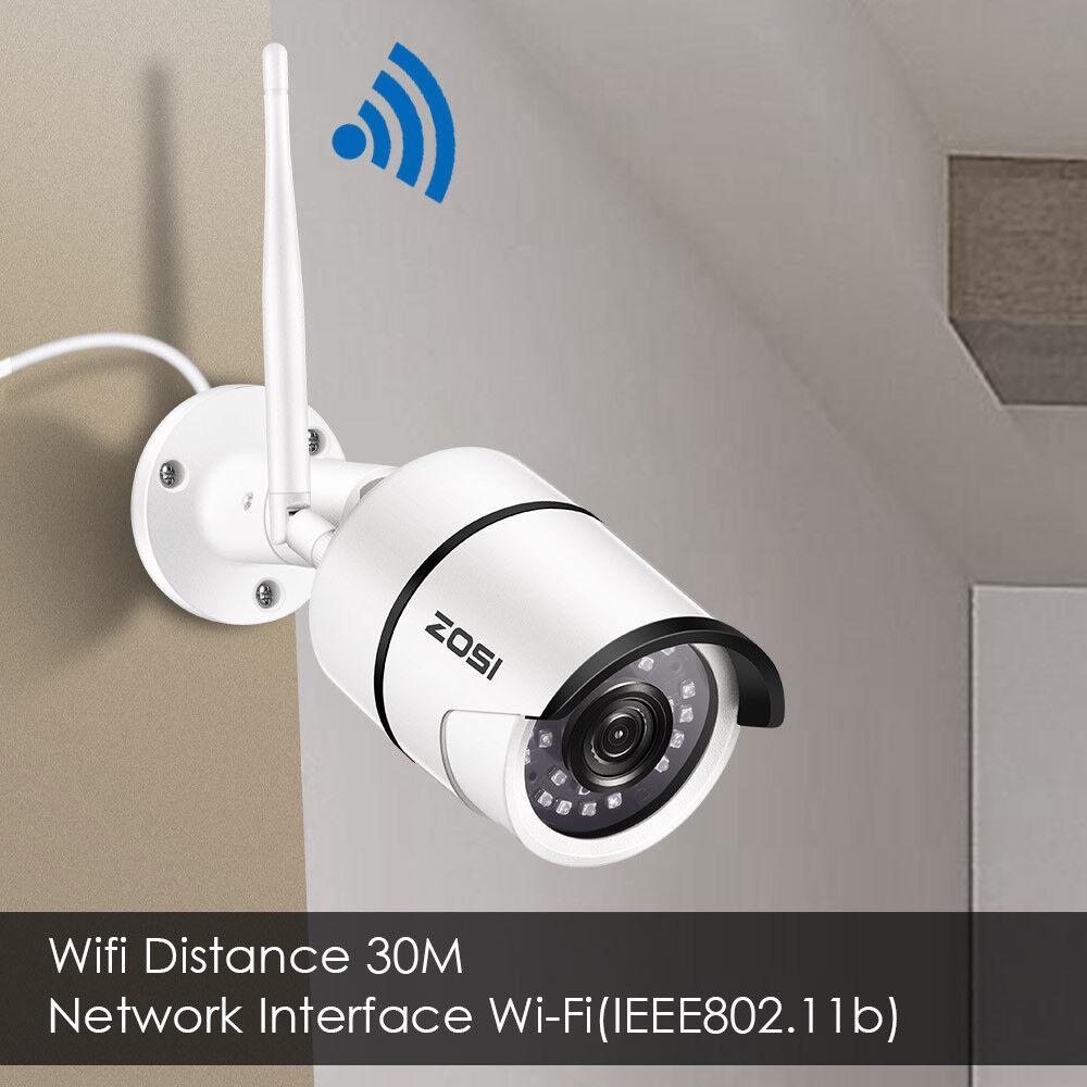ZOSI 1080P Wireless WIFI IP Camera Onvif Outdoor Security Bullet IR