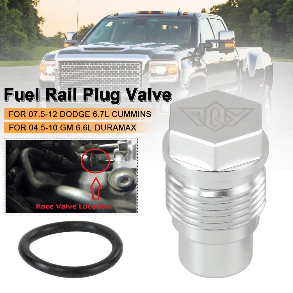 Fuel Rail Plug Fit For 07-12 Dodge 6.7L Cummins 04-10 GM 6.6L Duramax Diesel