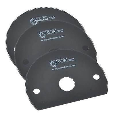 80mm Hss Semi-circular Multitool Saw 3 Blade Pack Fits Fein Multimaster Rockwell