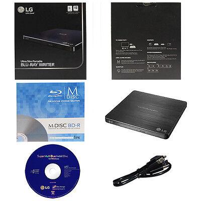 LG WP50NB40 6X Ultra Slim Portable Blu-ray BD CD DVD Externa